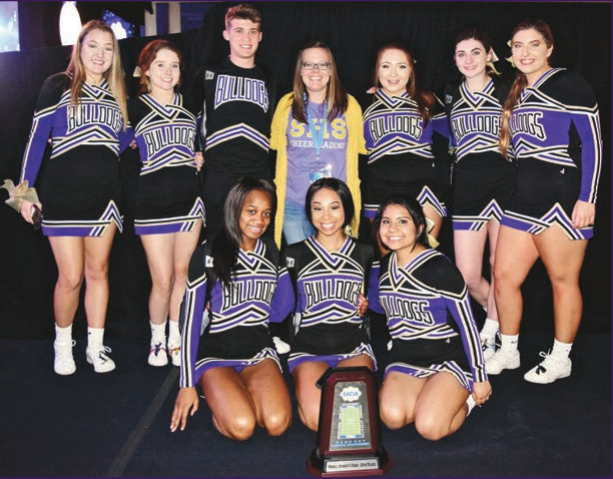 Bulldog Cheerleaders a Force to be Reckoned with: Small Squad of nine Mauls its way up to Nationals